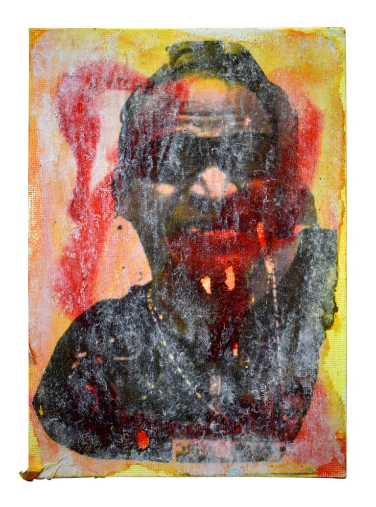 A self-portrait collage of the artist, Luis Clemente
