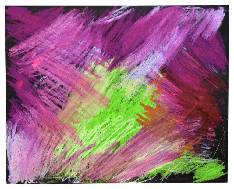 An abstract oil pastel drawing