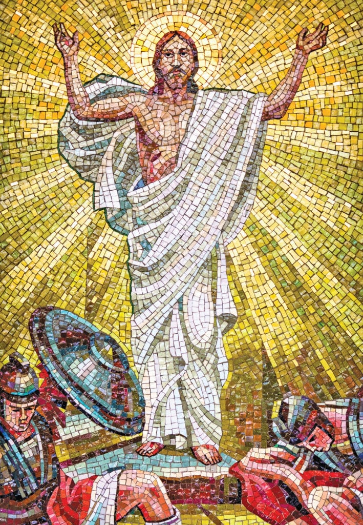 mosaic of the resurrected Christ.