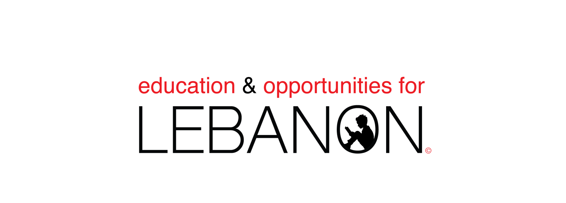 Text logo for Education and Opportunities for Lebanon.