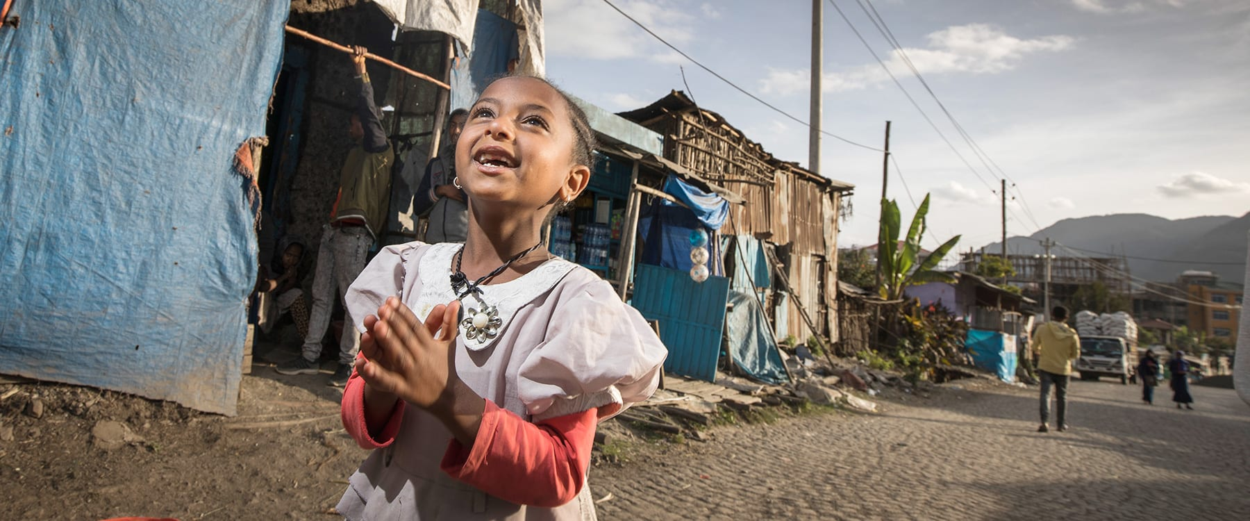 a girl in the city of dessie, ethiopia.