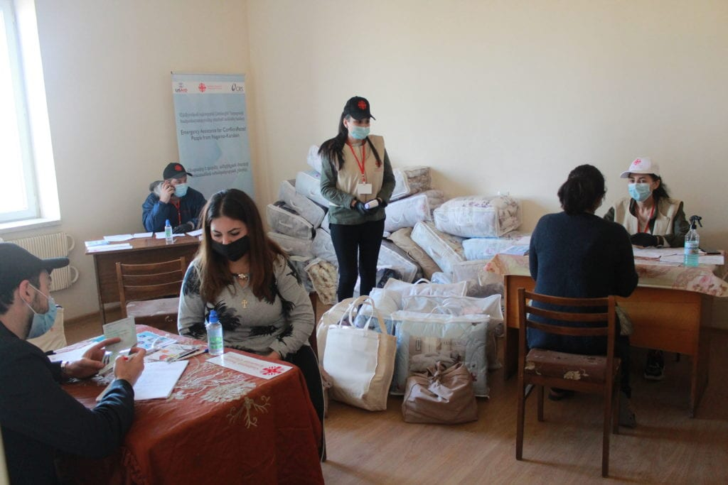 Caritas Armenia helps displaced people during Nagorno-Karabakh war