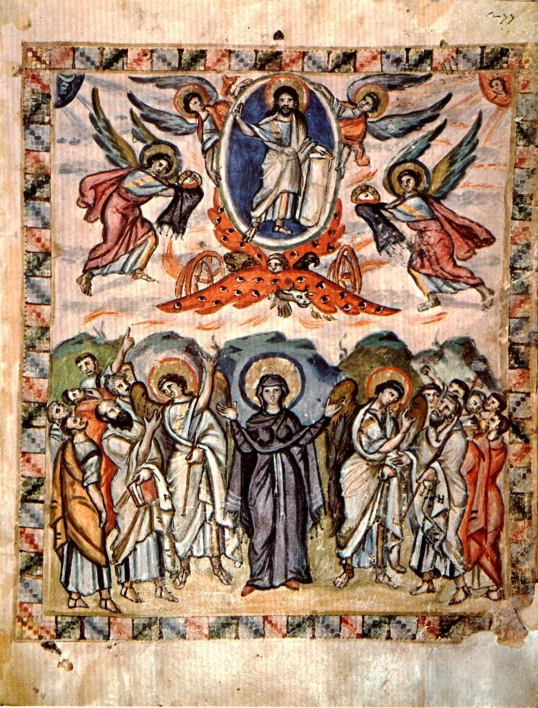 artistic depiction of the Ascension from the sixth century.