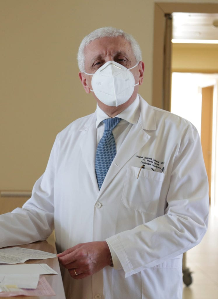 a photo of Dr. Pierre Yared of Geitawi Hospital in Lebanon.